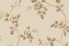 3043 cikkszámú tapéta.Barokk-klasszikus,virágmintás,arany,bézs-drapp,sárga,zöld,súrolható,vlies tapéta