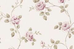 3044 cikkszámú tapéta.Barokk-klasszikus,virágmintás,bézs-drapp,pink-rózsaszín,zöld,súrolható,vlies tapéta
