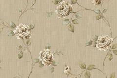 3045 cikkszámú tapéta.Barokk-klasszikus,virágmintás,barna,bézs-drapp,sárga,zöld,súrolható,vlies tapéta