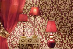 3068 cikkszámú tapéta.Barokk-klasszikus,arany,piros-bordó,súrolható,vlies tapéta