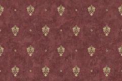 3078 cikkszámú tapéta.Barokk-klasszikus,arany,piros-bordó,súrolható,vlies tapéta