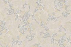 4400 cikkszámú tapéta.Barokk-klasszikus,textil hatású,virágmintás,barna,bézs-drapp,szürke,súrolható,vlies tapéta