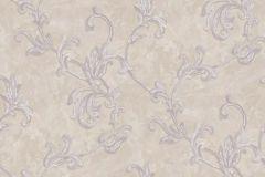 4401 cikkszámú tapéta.Barokk-klasszikus,textil hatású,virágmintás,bézs-drapp,szürke,súrolható,vlies tapéta
