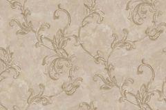 4402 cikkszámú tapéta.Barokk-klasszikus,textil hatású,virágmintás,arany,bézs-drapp,súrolható,vlies tapéta