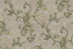 4405 cikkszámú tapéta.Barokk-klasszikus,textil hatású,virágmintás,szürke,zöld,súrolható,vlies tapéta
