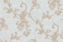 4406 cikkszámú tapéta.Barokk-klasszikus,textil hatású,virágmintás,arany,barna,bézs-drapp,kék,súrolható,vlies tapéta