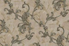 4409 cikkszámú tapéta.Barokk-klasszikus,textil hatású,virágmintás,arany,barna,szürke,súrolható,vlies tapéta