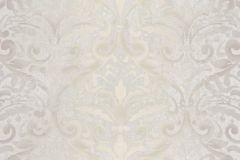 4424 cikkszámú tapéta.Barokk-klasszikus,textil hatású,bézs-drapp,szürke,súrolható,vlies tapéta