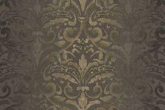 4429 cikkszámú tapéta.Barokk-klasszikus,textil hatású,arany,barna,súrolható,vlies tapéta