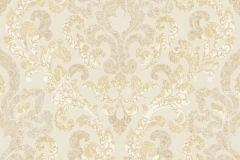 5840 cikkszámú tapéta.Absztrakt,barokk-klasszikus,különleges felületű,természeti mintás,textil hatású,textilmintás,virágmintás,arany,fehér,vajszín,súrolható,vlies tapéta