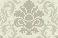 13343-10 cikkszámú tapéta.Barokk-klasszikus,csillámos,fehér,gyöngyház,szürke,lemosható,vlies tapéta