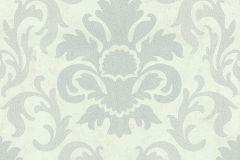 13343-20 cikkszámú tapéta.Barokk-klasszikus,csillámos,fehér,gyöngyház,szürke,lemosható,vlies tapéta