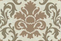 13343-50 cikkszámú tapéta.Barokk-klasszikus,csillámos,barna,bronz,fehér,gyöngyház,lemosható,vlies tapéta