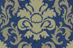 13343-60 cikkszámú tapéta.Barokk-klasszikus,csillámos,arany,gyöngyház,kék,lemosható,vlies tapéta