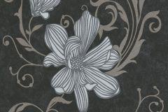 13344-20 cikkszámú tapéta.Csillámos,virágmintás,barna,fehér,gyöngyház,szürke,lemosható,illesztés mentes,vlies tapéta