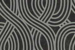 13345-30 cikkszámú tapéta.3d hatású,absztrakt,csillámos,geometriai mintás,ezüst,fekete,szürke,lemosható,vlies tapéta