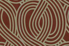 13345-70 cikkszámú tapéta.3d hatású,absztrakt,csillámos,geometriai mintás,arany,gyöngyház,piros-bordó,lemosható,vlies tapéta