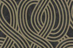 13345-80 cikkszámú tapéta.3d hatású,absztrakt,csillámos,geometriai mintás,arany,fekete,szürke,lemosható,vlies tapéta