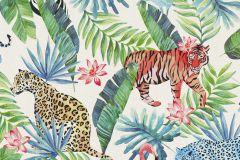 42500-10 cikkszámú tapéta.állatok,különleges felületű,különleges motívumos,természeti mintás,fehér,fekete,kék,narancs-terrakotta,piros-bordó,zöld,súrolható,vlies tapéta