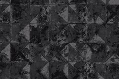 42501-10 cikkszámú tapéta.Absztrakt,geometriai mintás,különleges felületű,ezüst,fekete,szürke,súrolható,vlies tapéta