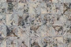42501-30 cikkszámú tapéta.Absztrakt,geometriai mintás,különleges felületű,különleges motívumos,barna,bronz,kék,súrolható,vlies tapéta