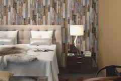 42504-10 cikkszámú tapéta.Fa hatású-fa mintás,különleges felületű,különleges motívumos,retro,barna,bézs-drapp,narancs-terrakotta,piros-bordó,súrolható,vlies tapéta