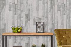 42504-30 cikkszámú tapéta.Fa hatású-fa mintás,különleges felületű,különleges motívumos,retro,ezüst,fehér,szürke,súrolható,illesztés mentes,vlies tapéta