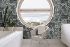 42506-20 cikkszámú tapéta.Konyha-fürdőszobai,különleges felületű,különleges motívumos,fehér,szürke,súrolható,vlies tapéta