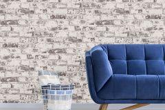 42507-10 cikkszámú tapéta.Kőhatású-kőmintás,különleges felületű,retro,barna,fehér,szürke,súrolható,vlies tapéta