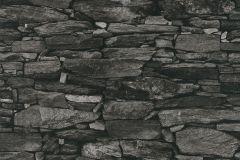 42508-20 cikkszámú tapéta.Kőhatású-kőmintás,különleges felületű,retro,fekete,szürke,súrolható,vlies tapéta