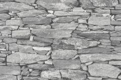 42508-30 cikkszámú tapéta.Kőhatású-kőmintás,különleges felületű,retro,ezüst,szürke,súrolható,vlies tapéta