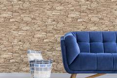 42508-40 cikkszámú tapéta.Kőhatású-kőmintás,különleges felületű,retro,bézs-drapp,vajszínű,súrolható,vlies tapéta