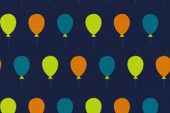 05212-10 cikkszámú tapéta.Gyerek,különleges motívumos,rajzolt,kék,narancs-terrakotta,türkiz,zöld,gyengén mosható,papír tapéta