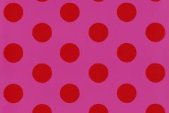 05213-20 cikkszámú tapéta.Gyerek,különleges felületű,különleges motívumos,pöttyös,retro,pink-rózsaszín,piros-bordó,gyengén mosható,papír tapéta