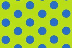05213-30 cikkszámú tapéta.Gyerek,különleges motívumos,pöttyös,retro,kék,zöld,gyengén mosható,papír tapéta