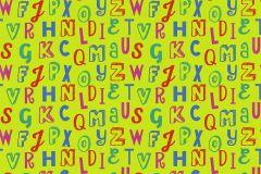 05214-30 cikkszámú tapéta.Feliratos-számos,gyerek,különleges motívumos,rajzolt,kék,pink-rózsaszín,zöld,gyengén mosható,papír tapéta