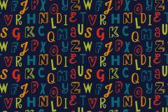 05214-40 cikkszámú tapéta.Feliratos-számos,gyerek,különleges motívumos,rajzolt,kék,narancs-terrakotta,pink-rózsaszín,piros-bordó,zöld,gyengén mosható,papír tapéta