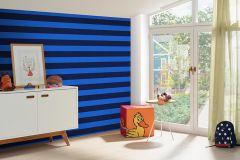 05215-10 cikkszámú tapéta.Csíkos,gyerek,kék,gyengén mosható,illesztés mentes,papír tapéta