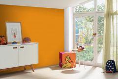 05217-10 cikkszámú tapéta.Egyszínű,gyerek,különleges felületű,narancs-terrakotta,gyengén mosható,illesztés mentes,papír tapéta