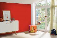 05217-20 cikkszámú tapéta.Egyszínű,gyerek,különleges felületű,piros-bordó,gyengén mosható,illesztés mentes,papír tapéta