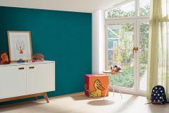 05217-50 cikkszámú tapéta.Egyszínű,gyerek,különleges felületű,kék,gyengén mosható,illesztés mentes,papír tapéta