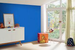05217-60 cikkszámú tapéta.Egyszínű,gyerek,különleges felületű,kék,gyengén mosható,illesztés mentes,papír tapéta
