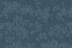 02385-20 cikkszámú tapéta.Csíkos,egyszínű,rajzolt,retro,textil hatású,virágmintás,kék,súrolható,vlies tapéta