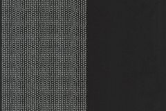 13372-24 cikkszámú tapéta.Csíkos,dekor tapéta ,különleges felületű,különleges motívumos,pöttyös,ezüst,fekete,súrolható,illesztés mentes,vlies tapéta