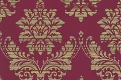 13373-44 cikkszámú tapéta.Absztrakt,barokk-klasszikus,csíkos,különleges felületű,különleges motívumos,textil hatású,piros-bordó,sárga,zöld,lemosható,vlies tapéta