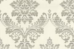 13373-54 cikkszámú tapéta.Absztrakt,barokk-klasszikus,csíkos,különleges felületű,különleges motívumos,textil hatású,bézs-drapp,szürke,vajszín,lemosható,vlies tapéta
