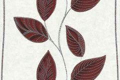 13386-20 cikkszámú tapéta.Csíkos,dekor tapéta ,különleges felületű,különleges motívumos,természeti mintás,textil hatású,virágmintás,fehér,fekete,piros-bordó,szürke,lemosható,illesztés mentes,vlies tapéta