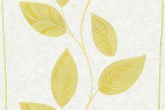 13386-30 cikkszámú tapéta.Csíkos,dekor tapéta ,különleges felületű,különleges motívumos,rajzolt,retro,természeti mintás,virágmintás,fehér,sárga,lemosható,illesztés mentes,vlies tapéta
