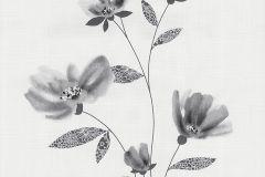 13488-20 cikkszámú tapéta.Rajzolt,természeti mintás,textil hatású,virágmintás,csíkos,dekor tapéta ,különleges felületű,különleges motívumos,szürke,lemosható,illesztés mentes,vlies tapéta