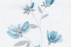 13488-40 cikkszámú tapéta.Csíkos,dekor tapéta ,különleges felületű,különleges motívumos,rajzolt,retro,természeti mintás,virágmintás,fehér,kék,szürke,lemosható,illesztés mentes,vlies tapéta